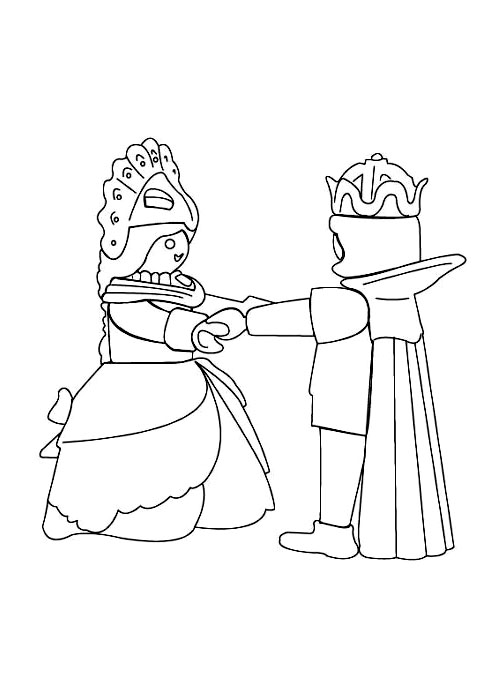 Playmobil prince princesse coloriage playmobil - Coloriage prin ...