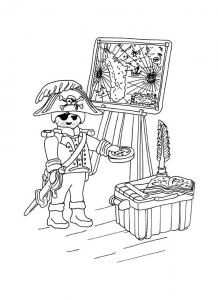coloriage playmobil pirate tresor