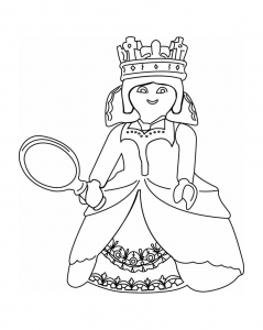 Coloriage playmobil princesse robe