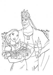 Image de Pocahontas à imprimer et colorier