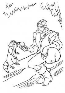 Dessin de Pocahontas gratuit à télécharger et colorier