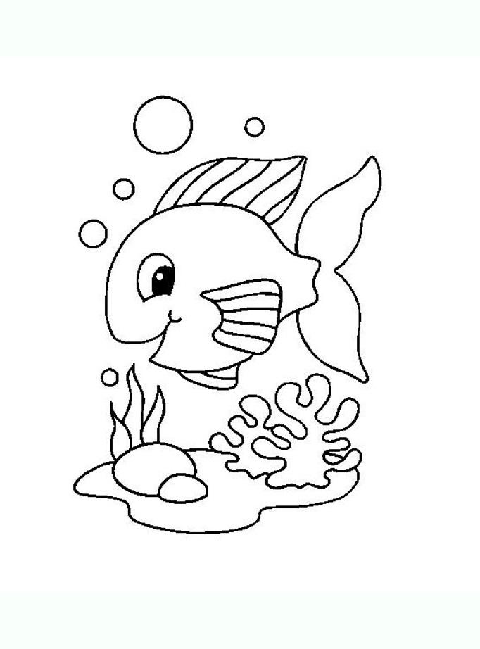Poisson 3 coloriage de poissons coloriages pour enfants - Dessiner des poissons ...