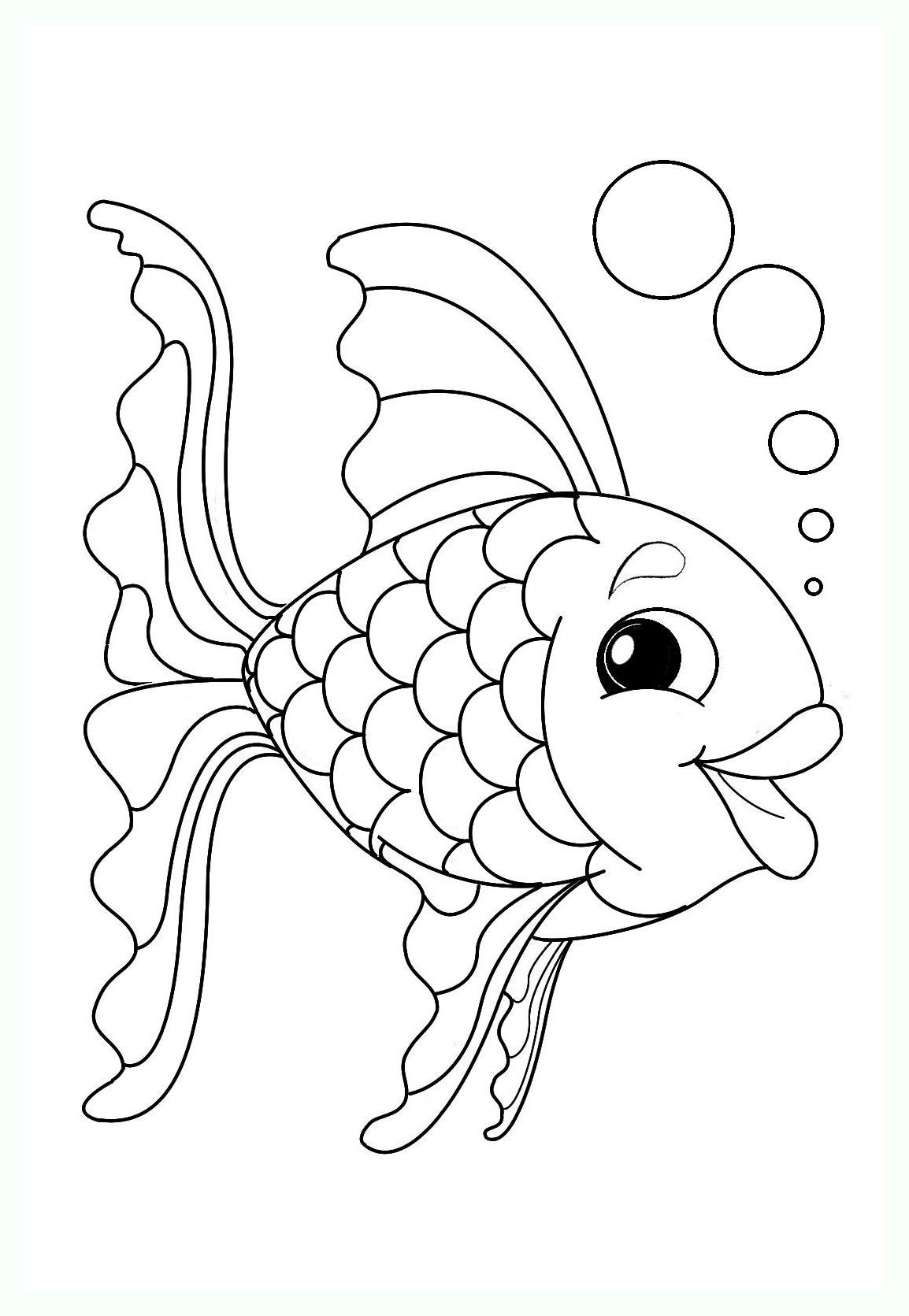 Poisson 4 coloriage de poissons coloriages pour enfants - Dessin de poisson facile ...