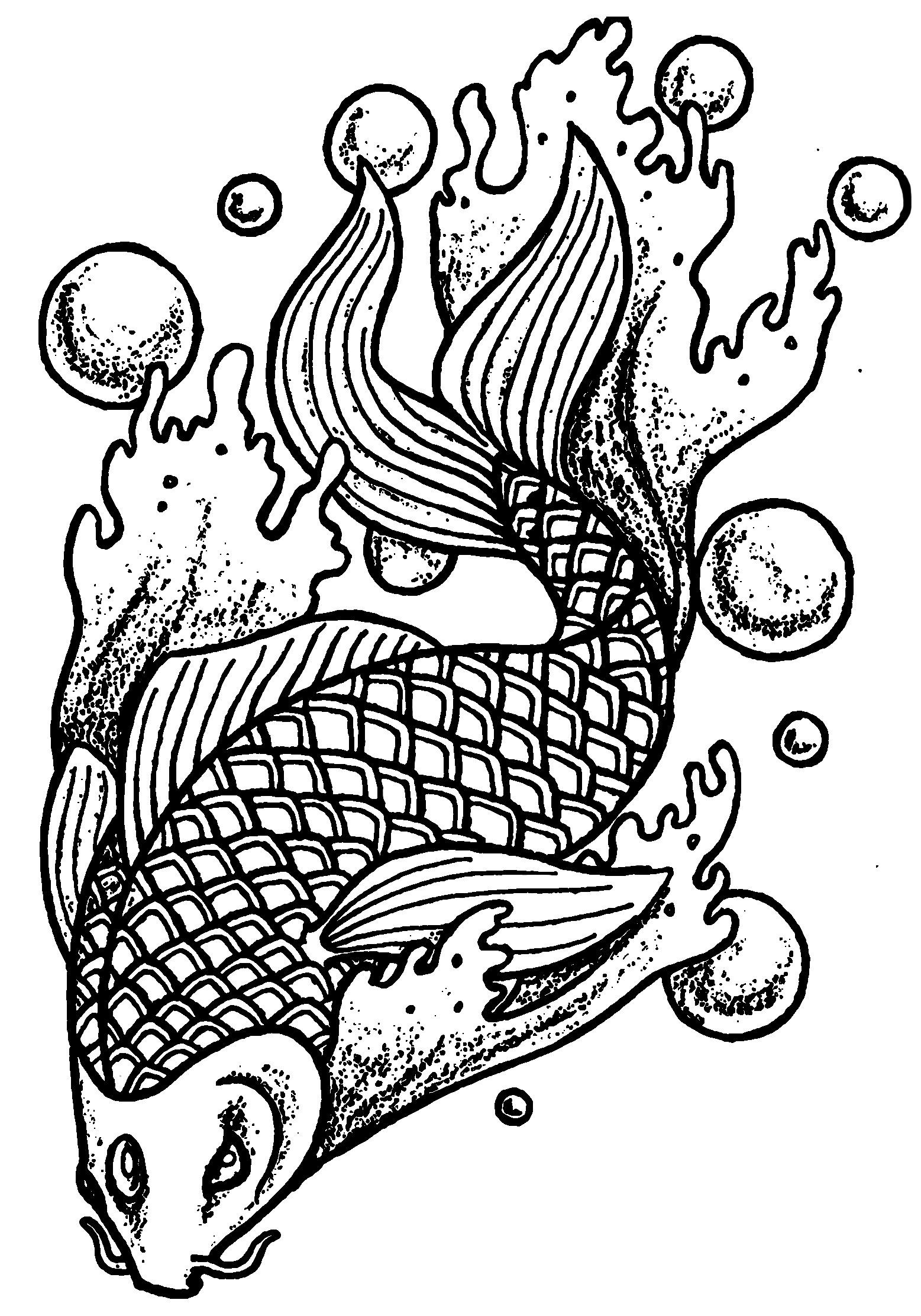 Coloriage de poissons à imprimer gratuitement - Coloriage ...