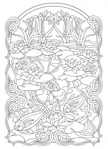 Carpe Poisson Difficile Coloriage De Poissons Coloriages Pour