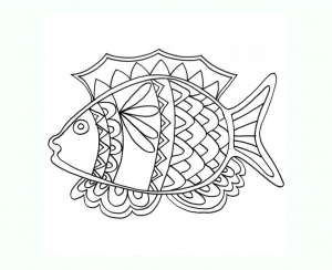 Image de poissons à télécharger et colorier