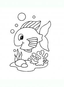 Coloriage de poissons à télécharger