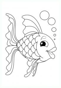 Coloriage poisson 4