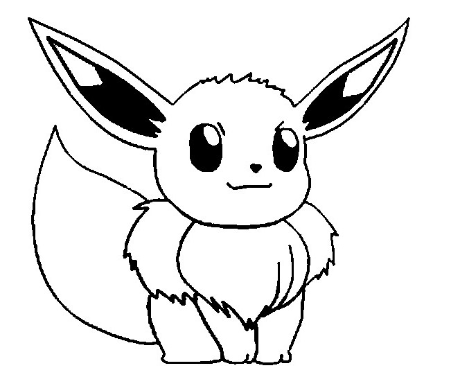 Pokemon eevee coloriages pokemon coloriages pour enfants - Dessin facile de pokemon ...