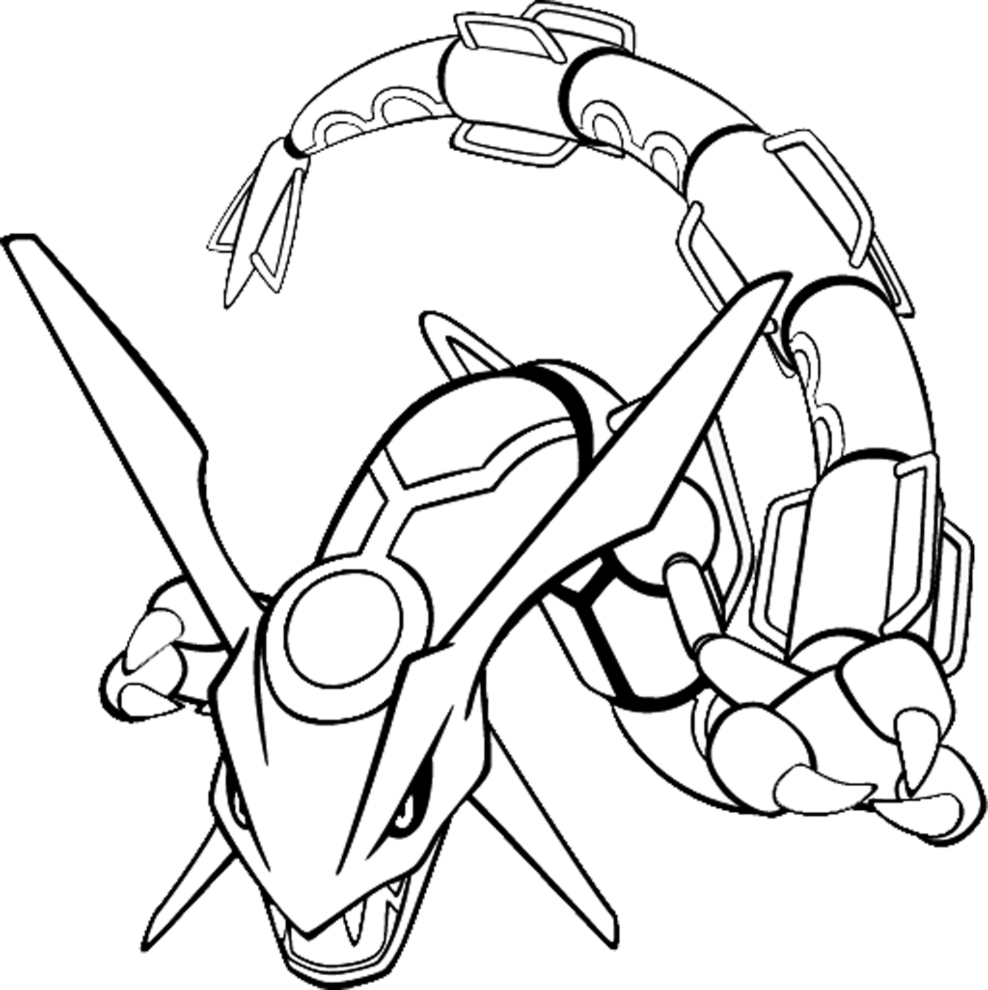 Pokemon rayquaza coloriages pokemon coloriages pour - Coloriage carte pokemon ...