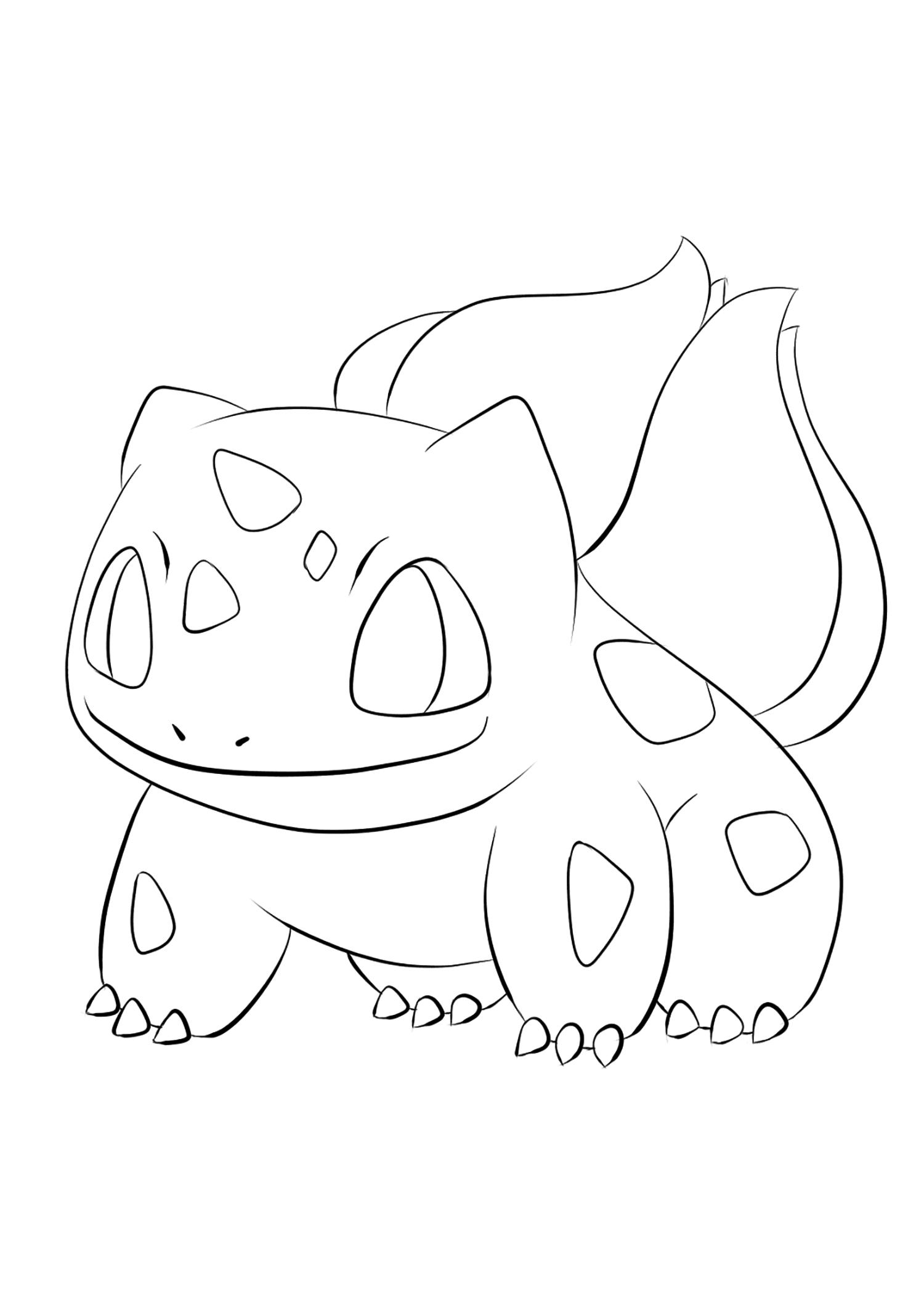 Bulbizarre No 01 Pokemon De Generation I Tous Les Coloriages