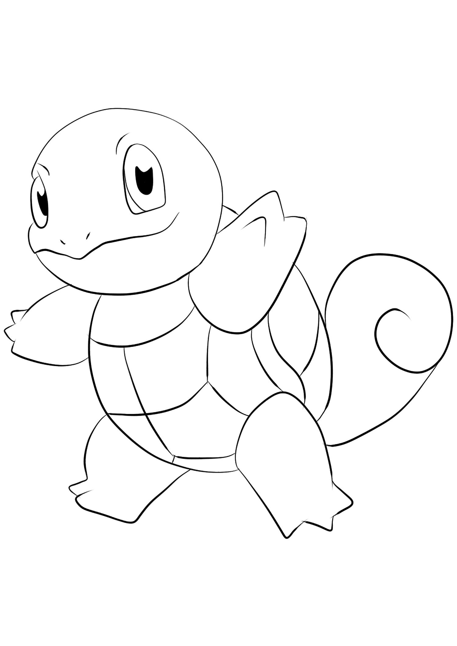 Carapuce No 07 Pokemon De Generation I Tous Les Coloriages