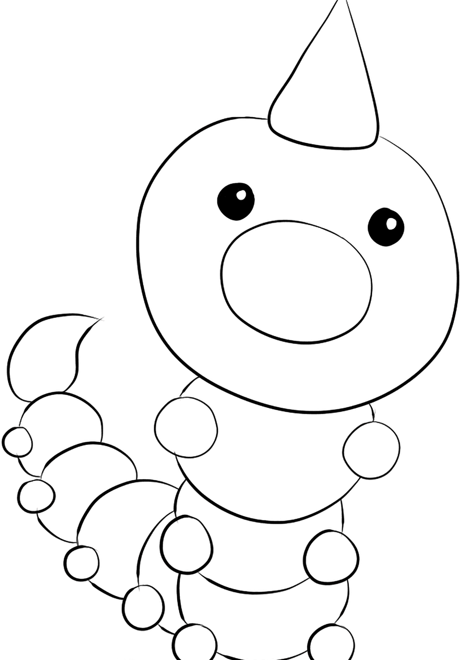 Aspicot (No.13)Coloriage de Aspicot (Weedle), Pokémon de Génération I, de type : Insecte et PoisonOriginal image credit: Pokemon linearts by Lilly Gerbil'font-size:smaller;color:gray'>Permission: All rights reserved © Pokemon company and Ken Sugimori.