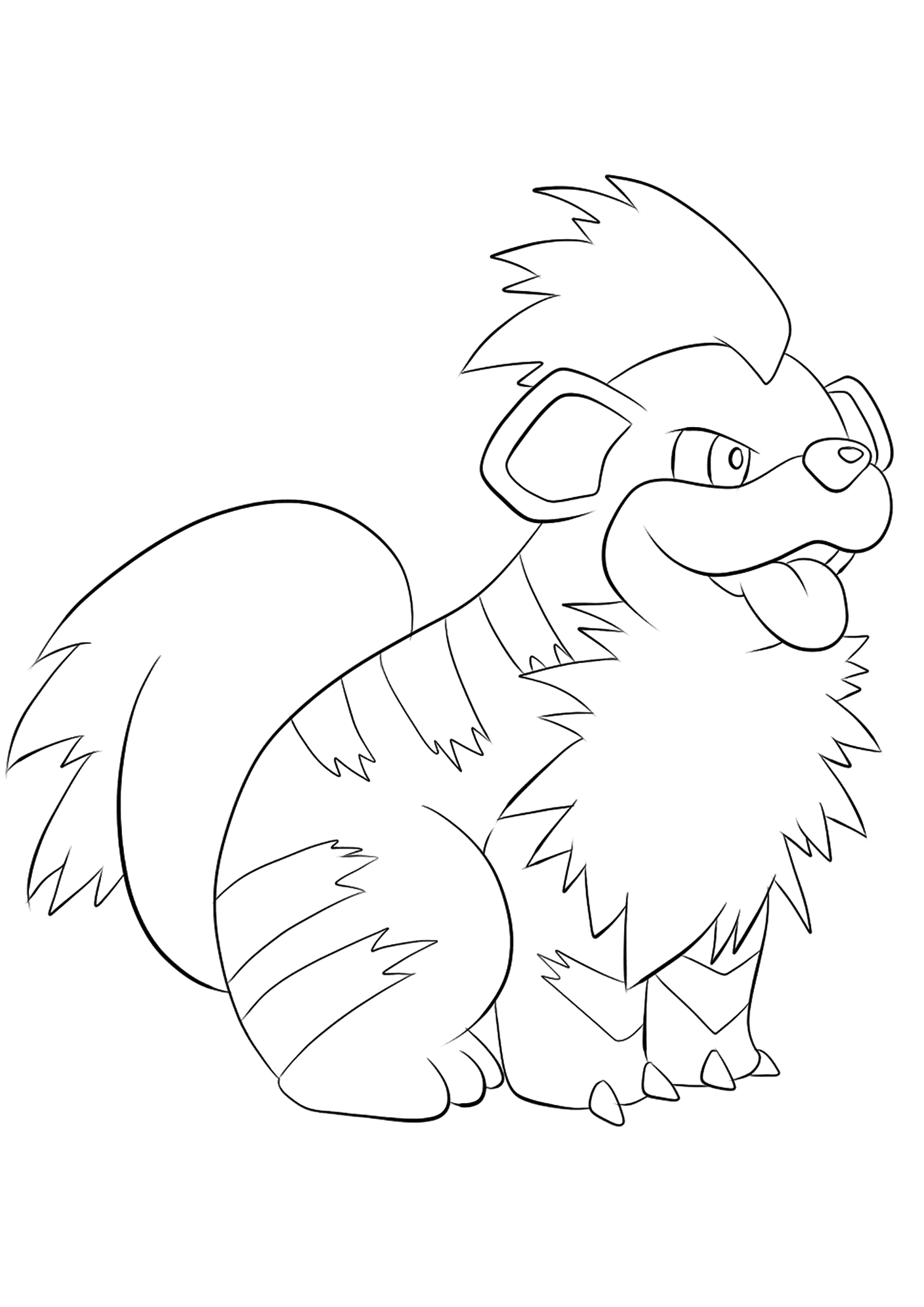 Caninos (No.58)Coloriage de Caninos (Growlithe), Pokémon de Génération I, de type : FeuOriginal image credit: Pokemon linearts by Lilly Gerbil on Deviantart.Permission:  All rights reserved © Pokemon company and Ken Sugimori.