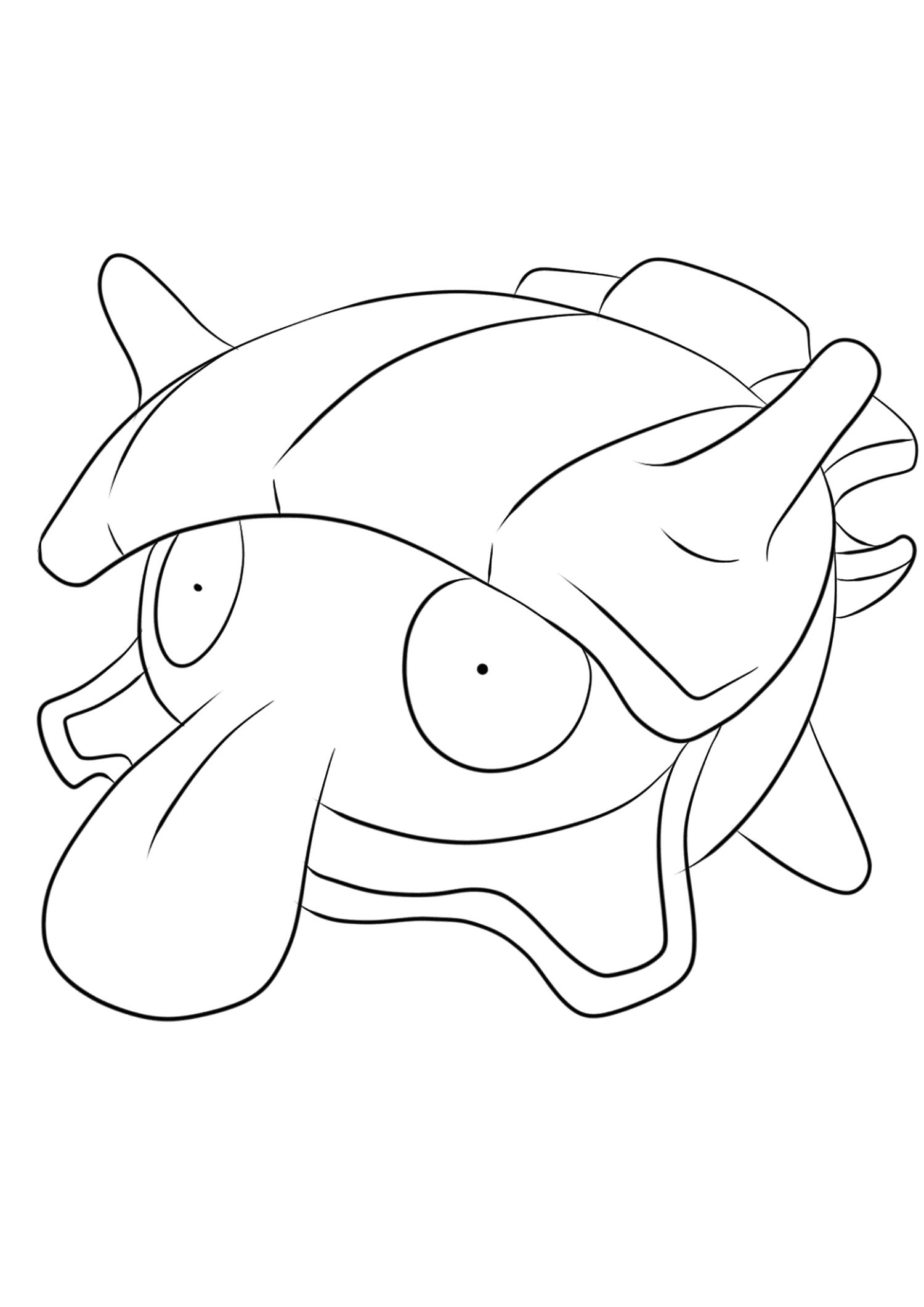 Kokiyas (No.90)Coloriage de Kokiyas (Shellder), Pokémon de Génération I, de type : EauOriginal image credit: Pokemon linearts by Lilly Gerbil on Deviantart.Permission:  All rights reserved © Pokemon company and Ken Sugimori.