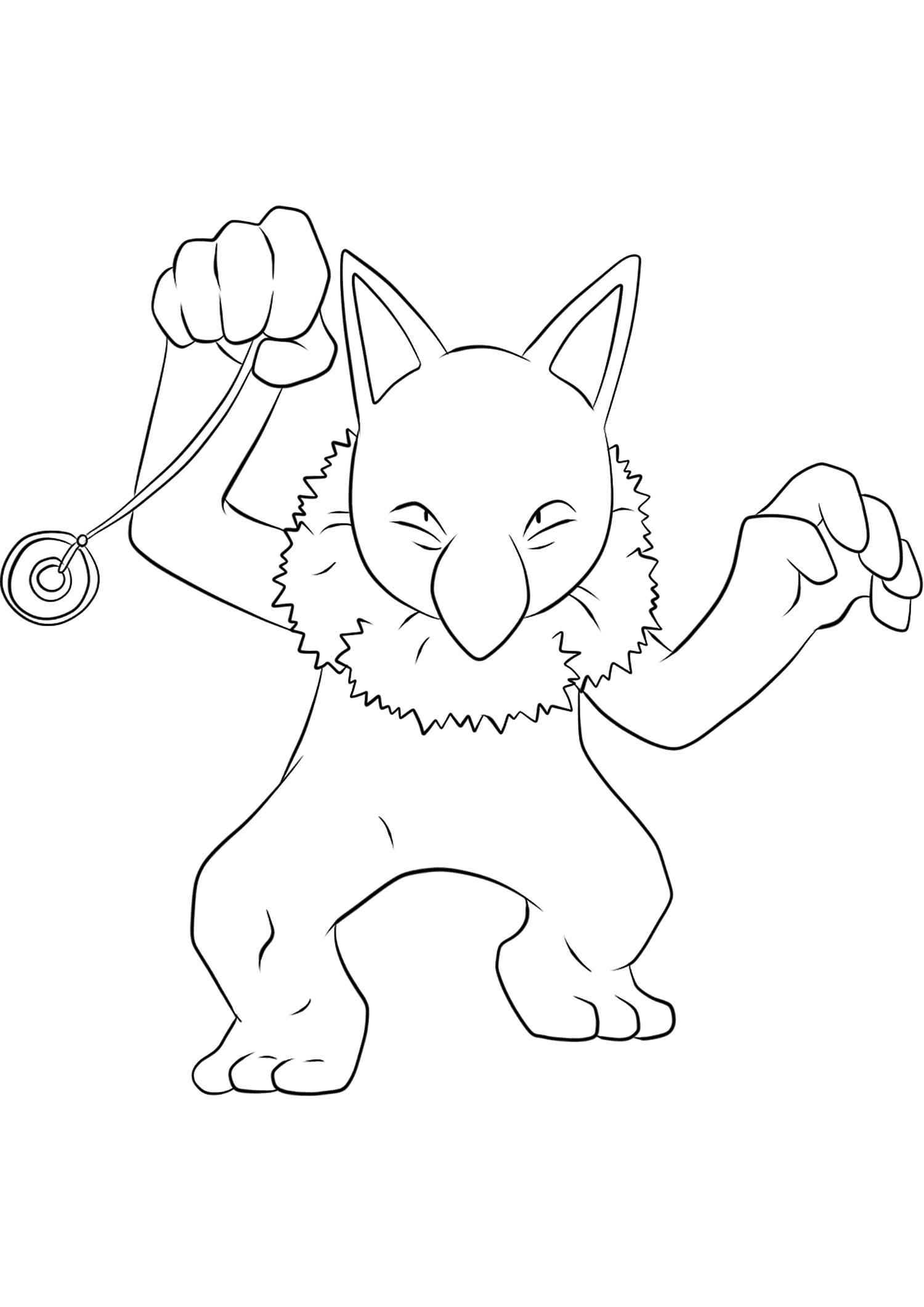 Hypnomade (No.97)Coloriage de Hypnomade (Hypno), Pokémon de Génération I, de type : PsyOriginal image credit: Pokemon linearts by Lilly Gerbil on Deviantart.Permission:  All rights reserved © Pokemon company and Ken Sugimori.