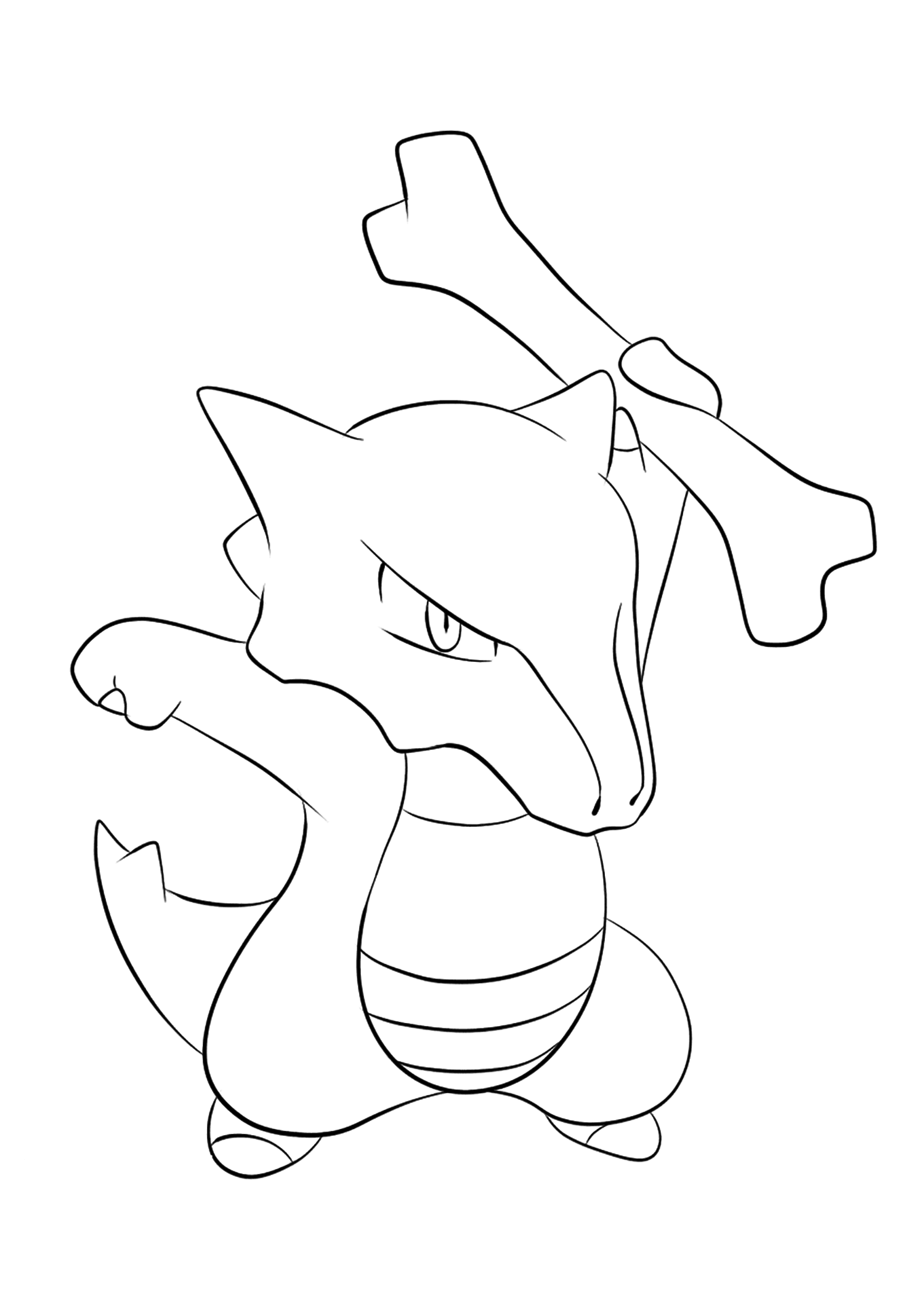 Ossatueur (No.105)Coloriage de Ossatueur (Marowak), Pokémon de Génération I, de type : Feu et SpectreOriginal image credit: Pokemon linearts by Lilly Gerbil on Deviantart.Permission:  All rights reserved © Pokemon company and Ken Sugimori.