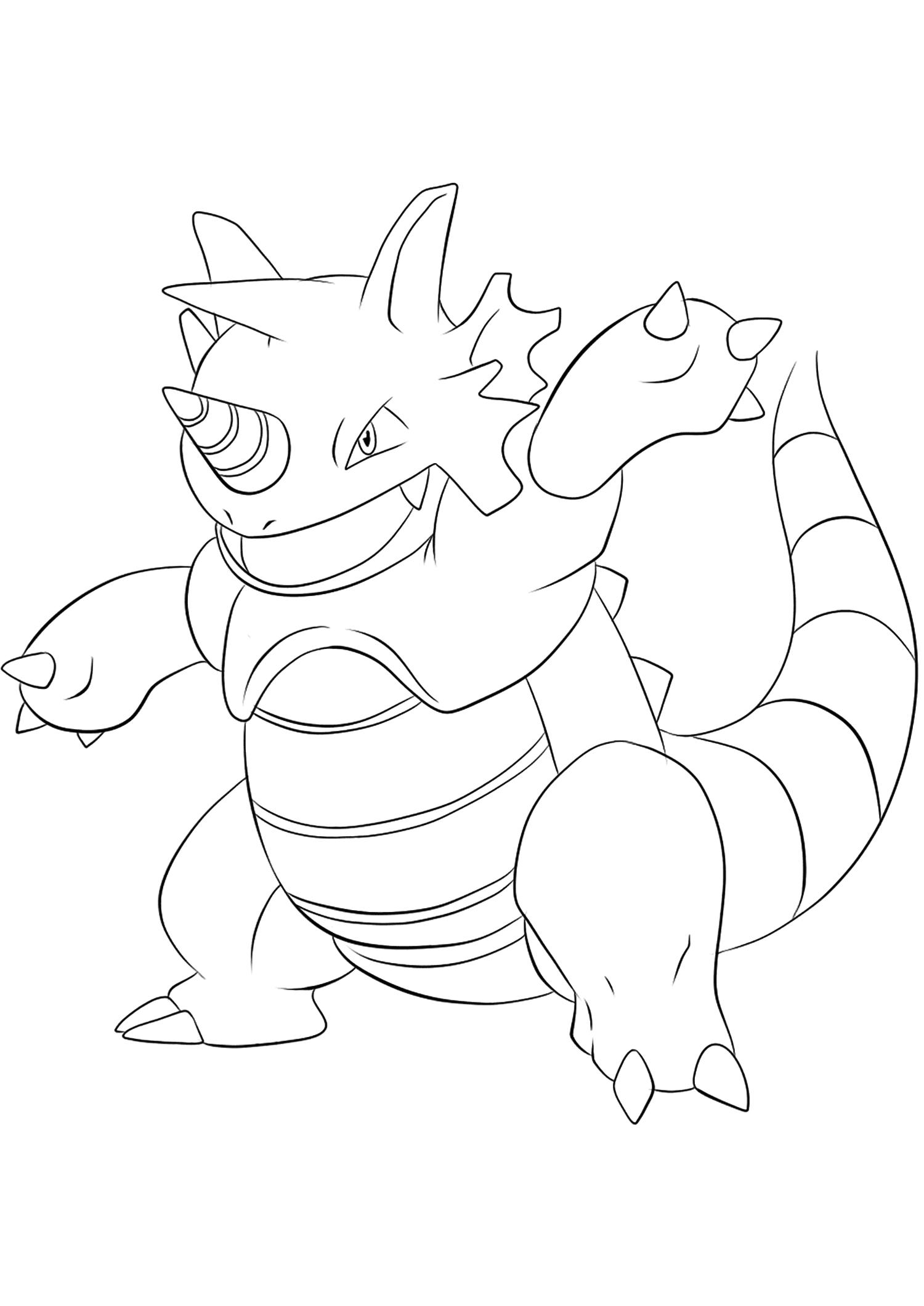 <b>Rhinoféros</b> (No.112) : Pokémon de génération I