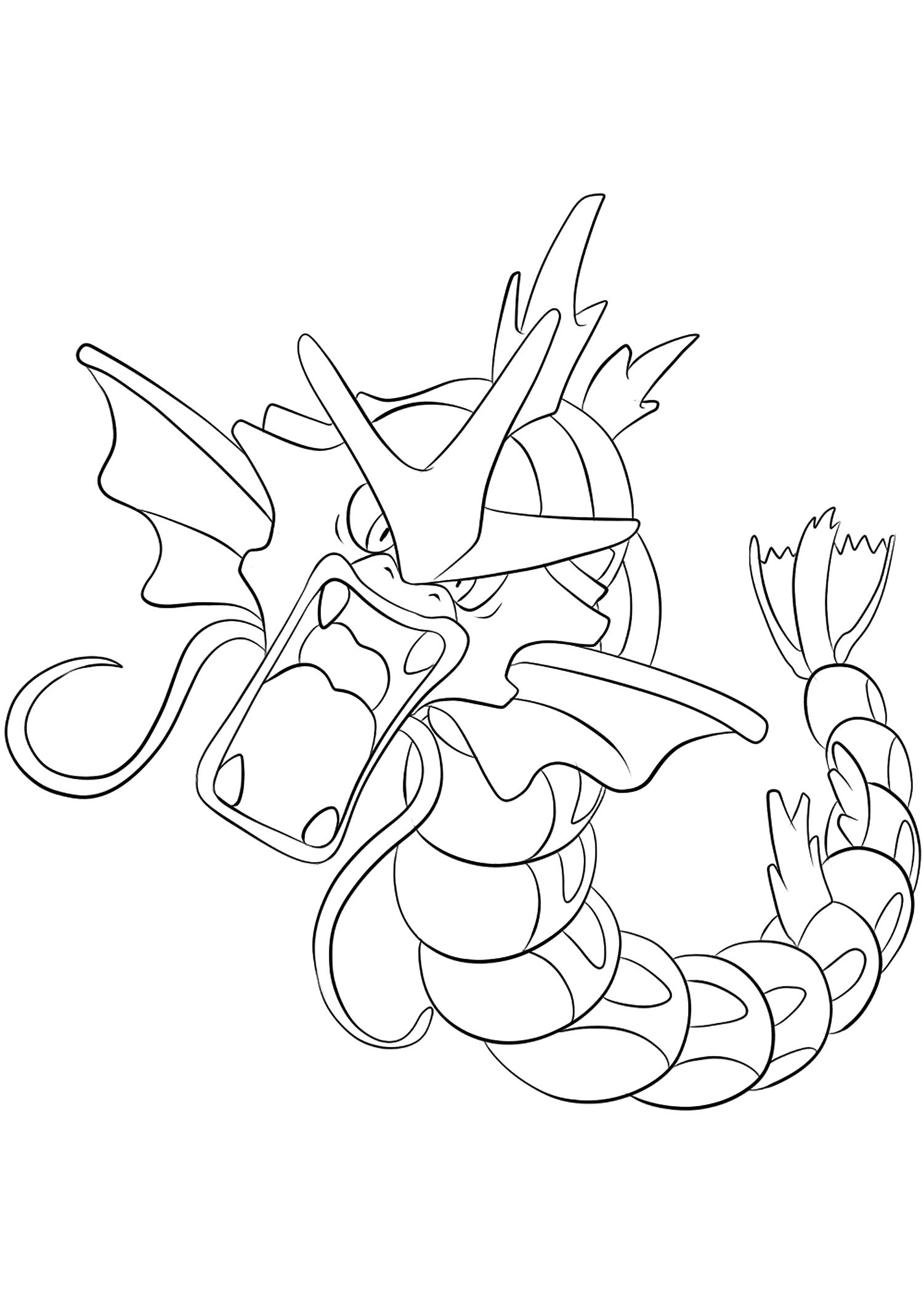 Leviator No 130 Pokemon De Generation I Tous Les Coloriages