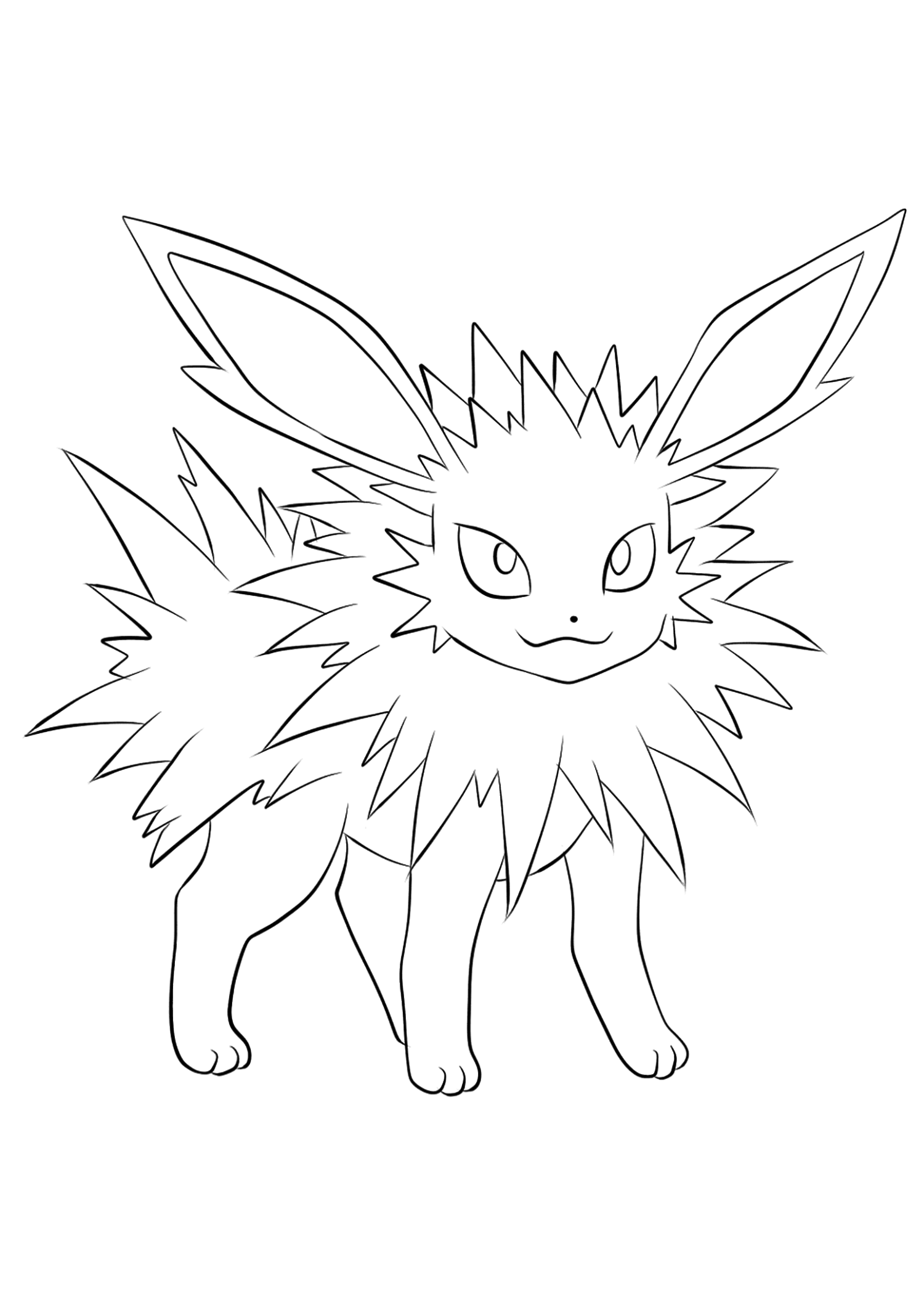 Voltali (No.135)Coloriage de Voltali (Jolteon), Pokémon de Génération I, de type : ElectrikOriginal image credit: Pokemon linearts by Lilly Gerbil on Deviantart.Permission:  All rights reserved © Pokemon company and Ken Sugimori.