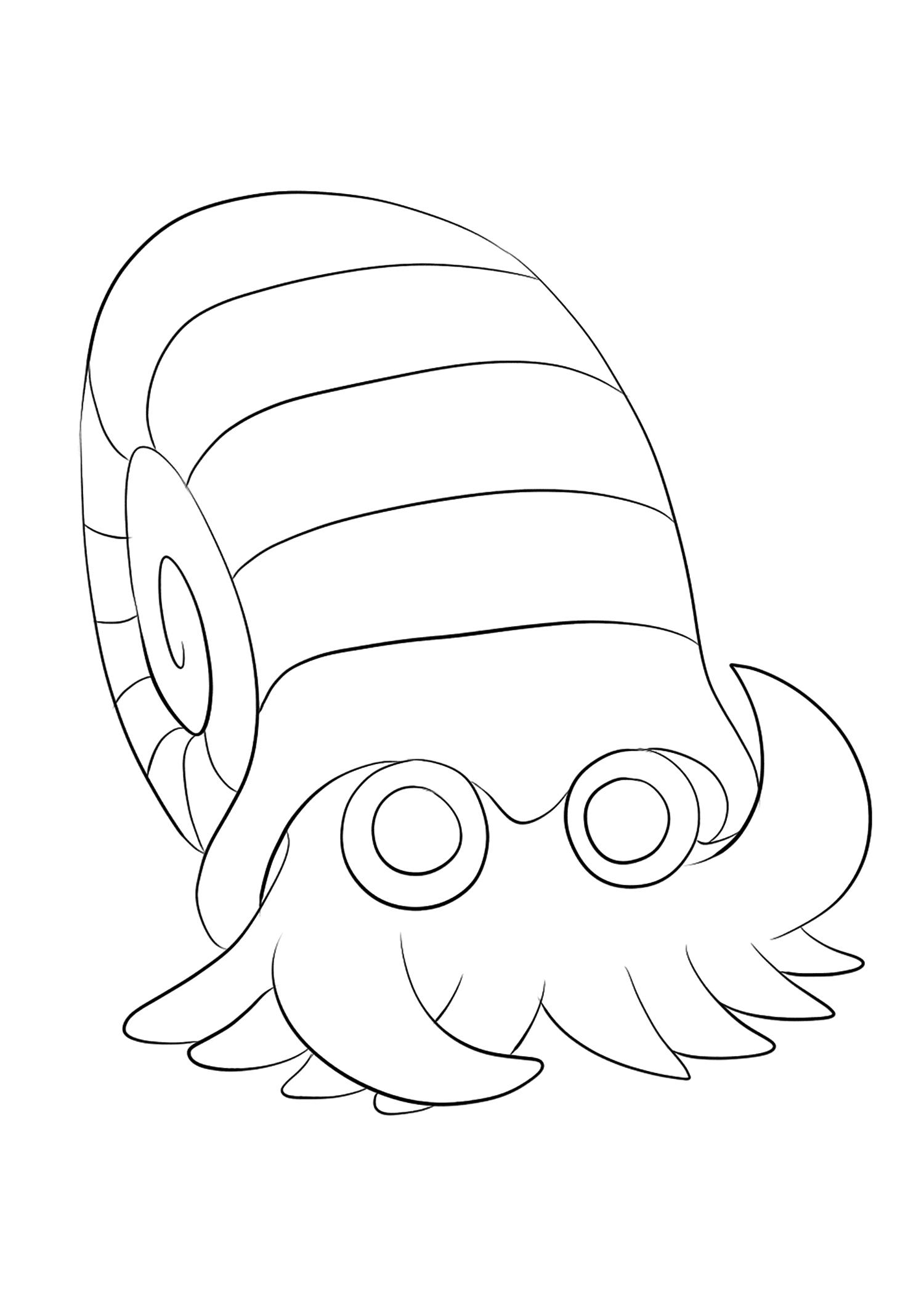 Amonita (No.138)Coloriage de Amonita (Omanyte), Pokémon de Génération I, de type : Roche et EauOriginal image credit: Pokemon linearts by Lilly Gerbil on Deviantart.Permission:  All rights reserved © Pokemon company and Ken Sugimori.
