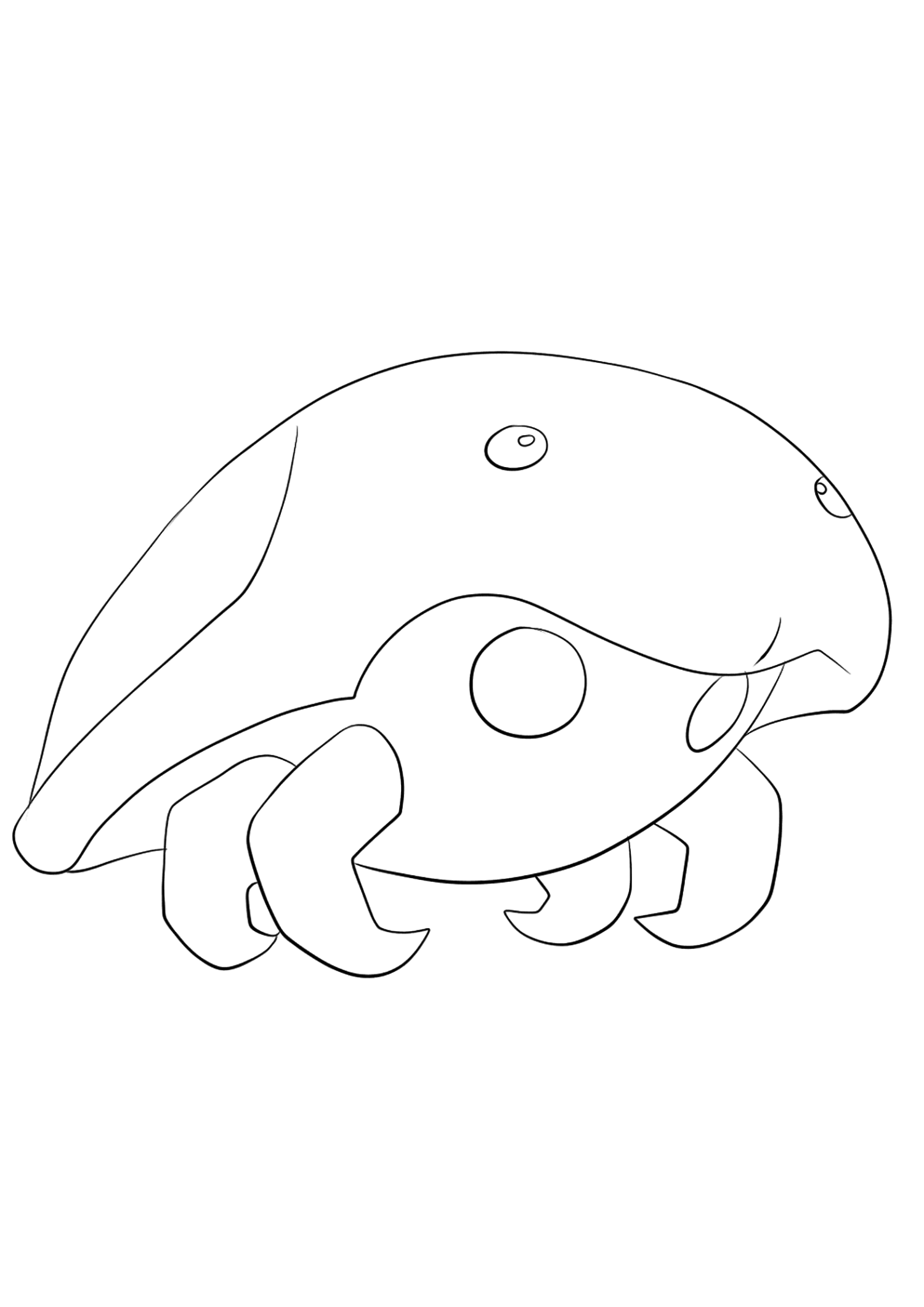 Kabuto (No.140)Coloriage de Kabuto (Kabuto), Pokémon de Génération I, de type : Roche et EauOriginal image credit: Pokemon linearts by Lilly Gerbil on Deviantart.Permission:  All rights reserved © Pokemon company and Ken Sugimori.