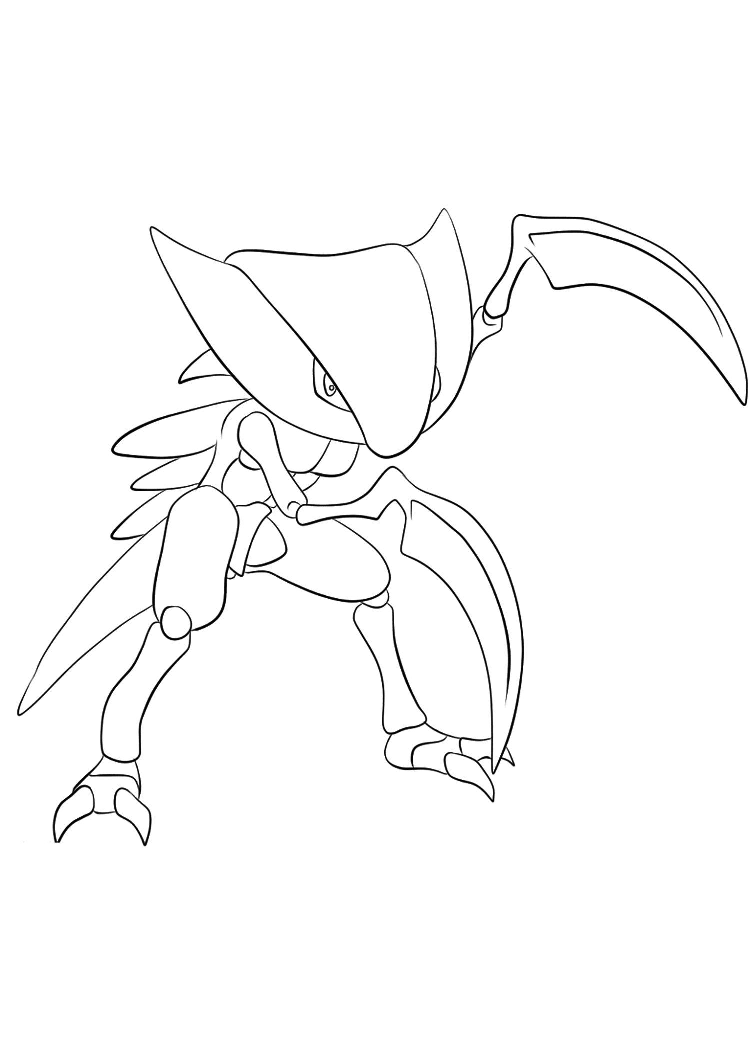 Kabutops (No.141)Coloriage de Kabutops (Kabutops), Pokémon de Génération I, de type : Roche et EauOriginal image credit: Pokemon linearts by Lilly Gerbil on Deviantart.Permission:  All rights reserved © Pokemon company and Ken Sugimori.