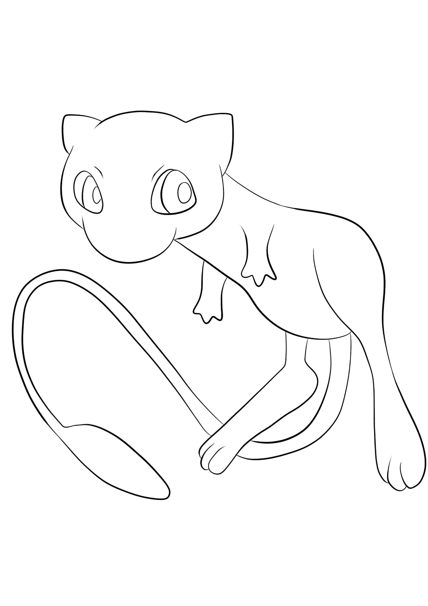 Mew (No.151)Coloriage de Mew (Mew), Pokémon de Génération II, de type : PsyOriginal image credit: Pokemon linearts by Lilly Gerbil on Deviantart.Permission:  All rights reserved © Pokemon company and Ken Sugimori.