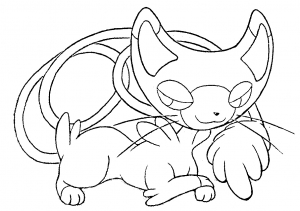 coloriage-pokemon-chat free to print