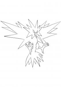 <b>Électhor</b> (No.145) : Pokémon de génération I