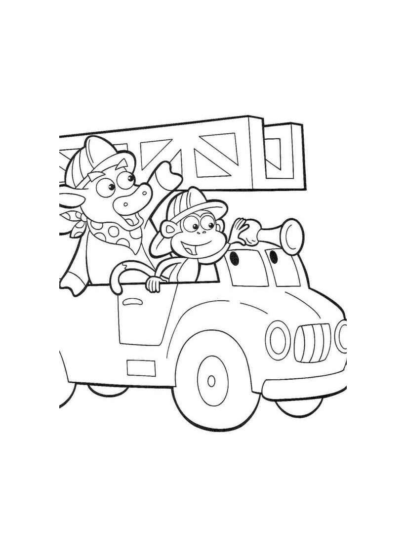Babouche pompier à colorier !