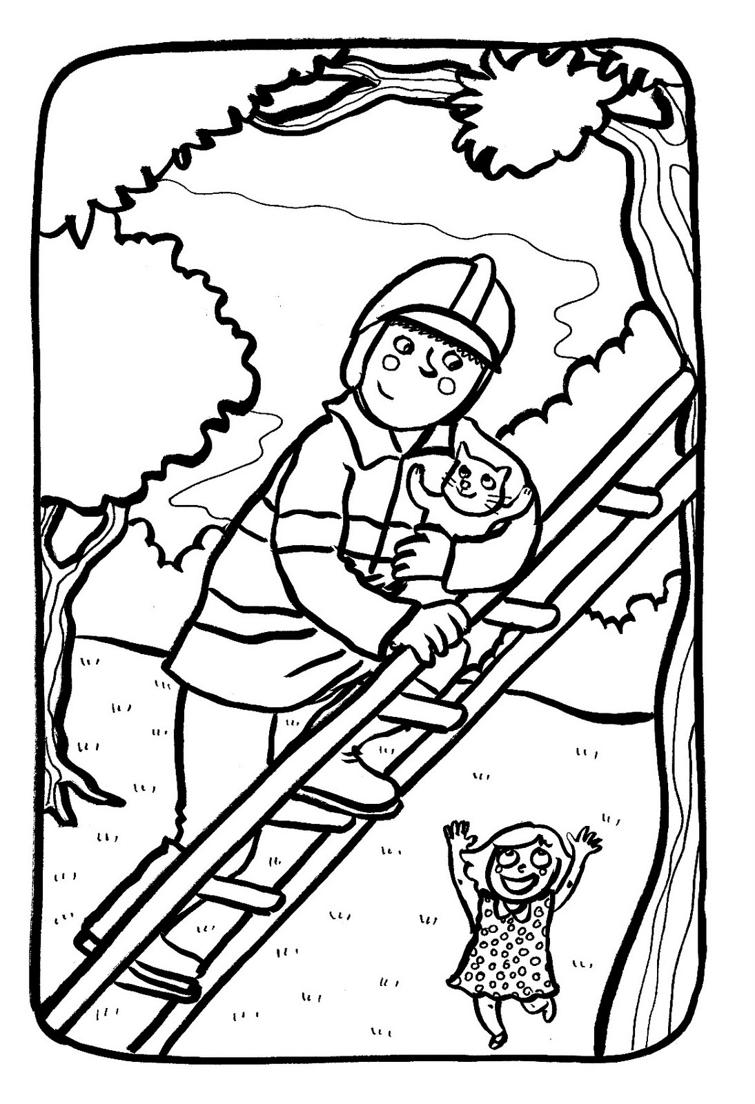 Pompier coloriage de pompiers coloriages pour enfants - Coloriages pompiers ...