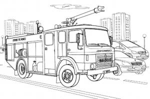 Coloriage Camion Pompier Facile.Coloriage De Pompiers Coloriages Pour Enfants