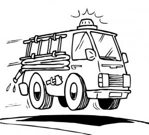 coloriage voiture de pompier free to print