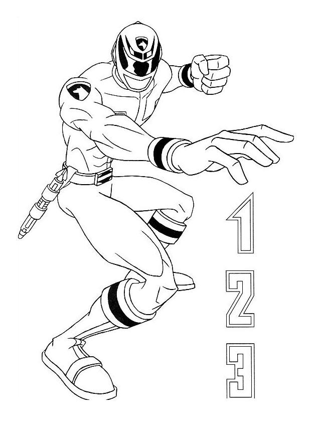 Coloriage de Power Rangers simple pour enfants