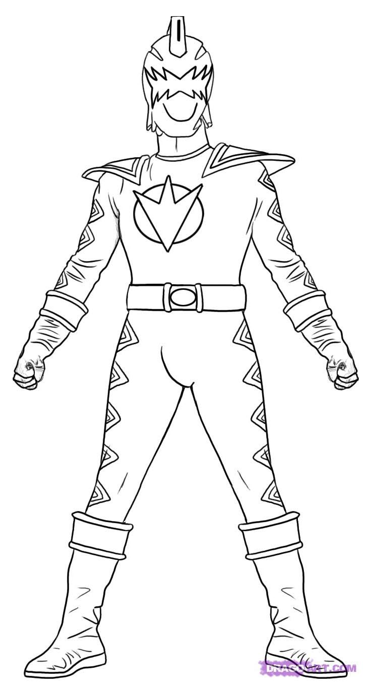 Coloriage amusant de Power Rangers à imprimer et colorier