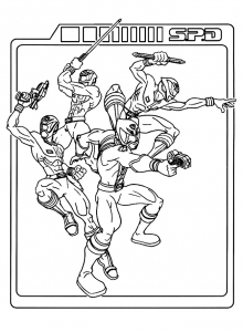 coloriage-power-rangers-1