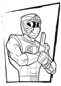 Coloriage power rangers 3