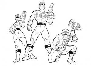 Coloriage power rangers 5