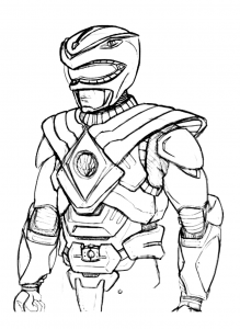 Coloriage power rangers 6