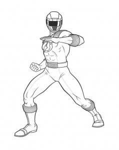 Coloriage power rangers 7