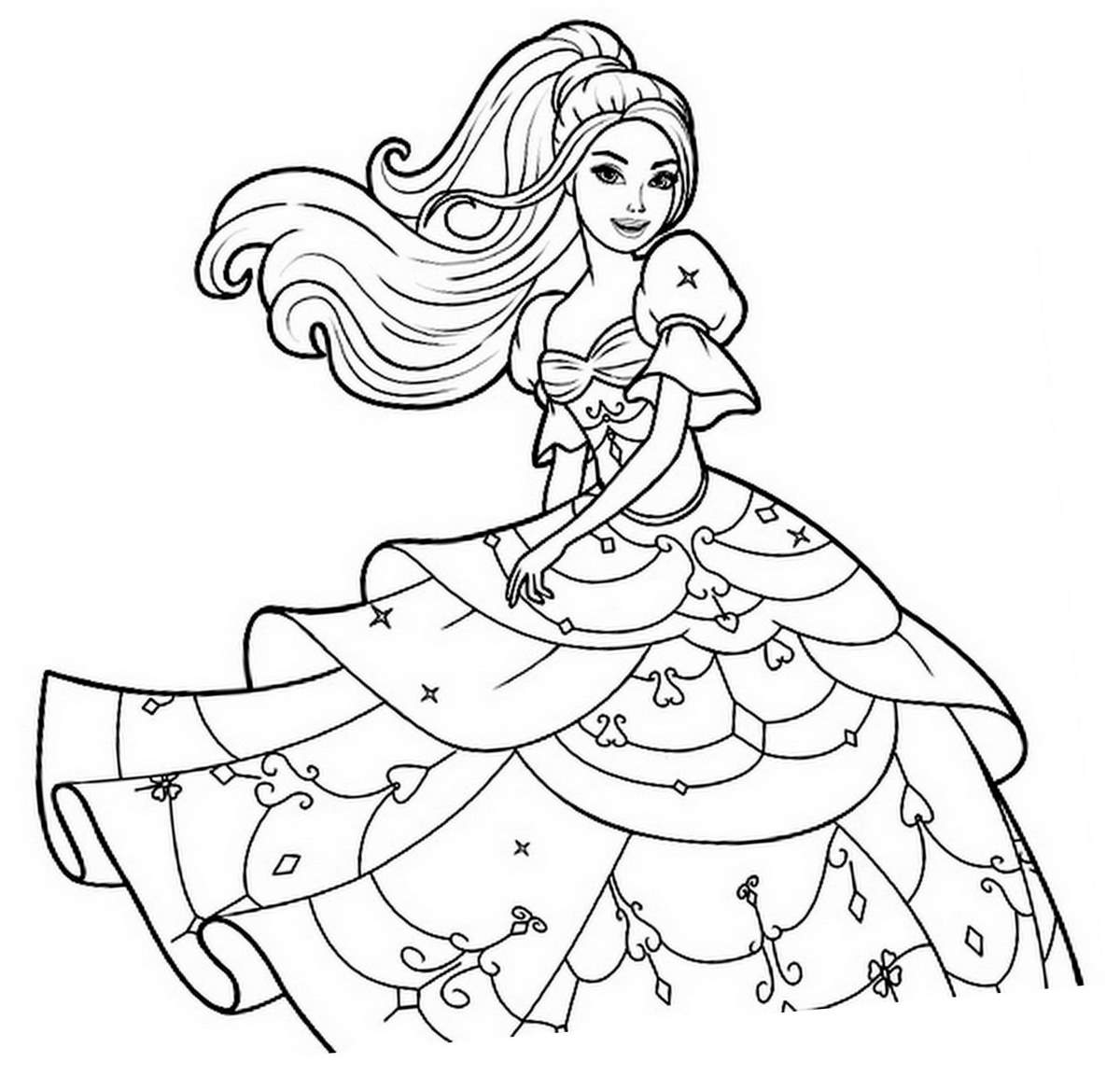Princesse 1 coloriage princesses coloriages pour enfants - Colriage princesse ...