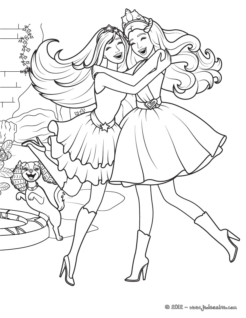Princesse 2 coloriage princesses coloriages pour enfants - Barbie princesse coloriage ...