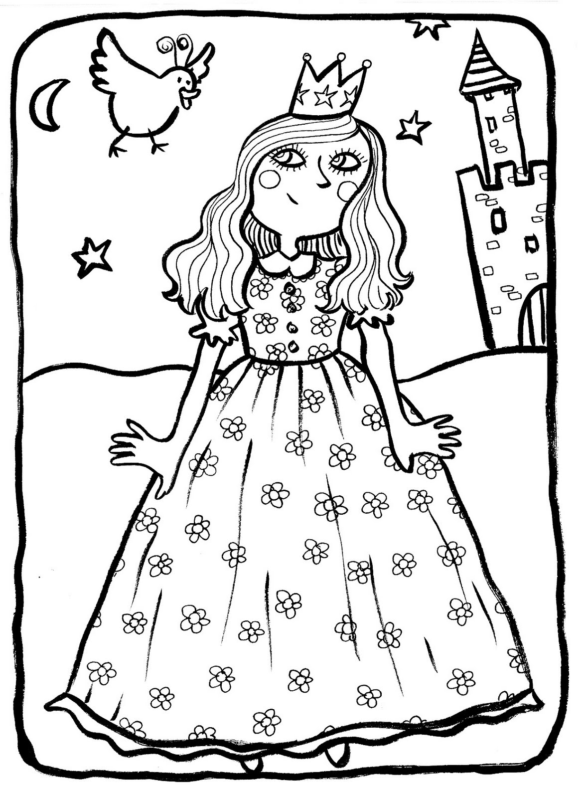 Princesse 3 coloriage princesses coloriages pour enfants - Colriage princesse ...