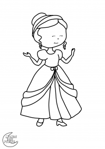 Coloriage princesse 5