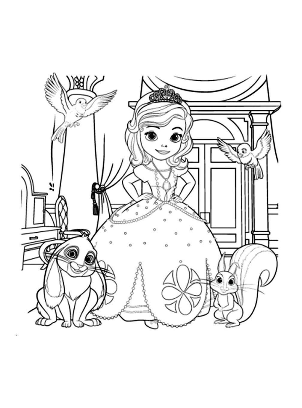 sofia et ses animauxa partir de la galerie princessesofia imprimer