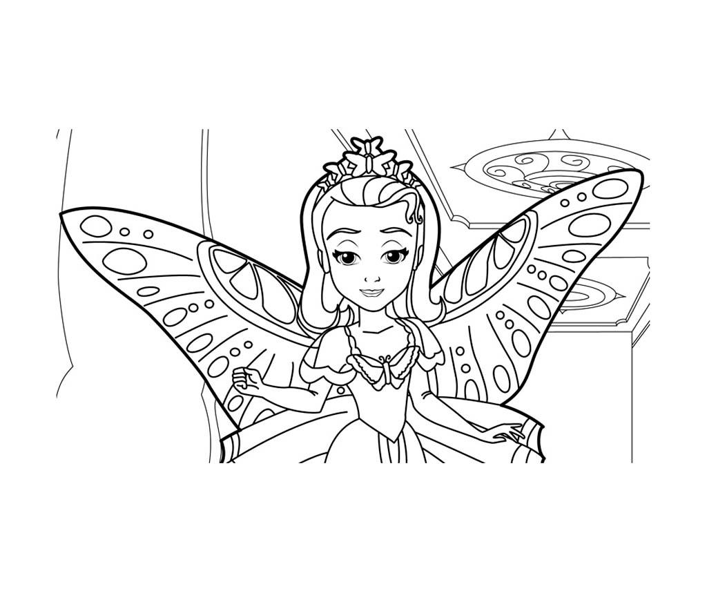 Coloriage Chateau Princesse Sofia.Princesse Sofia Disney 5 Coloriage Princesse Sofia Disney