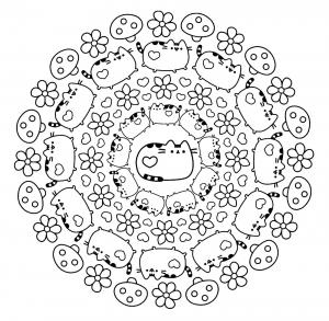 Mandala Pusheen