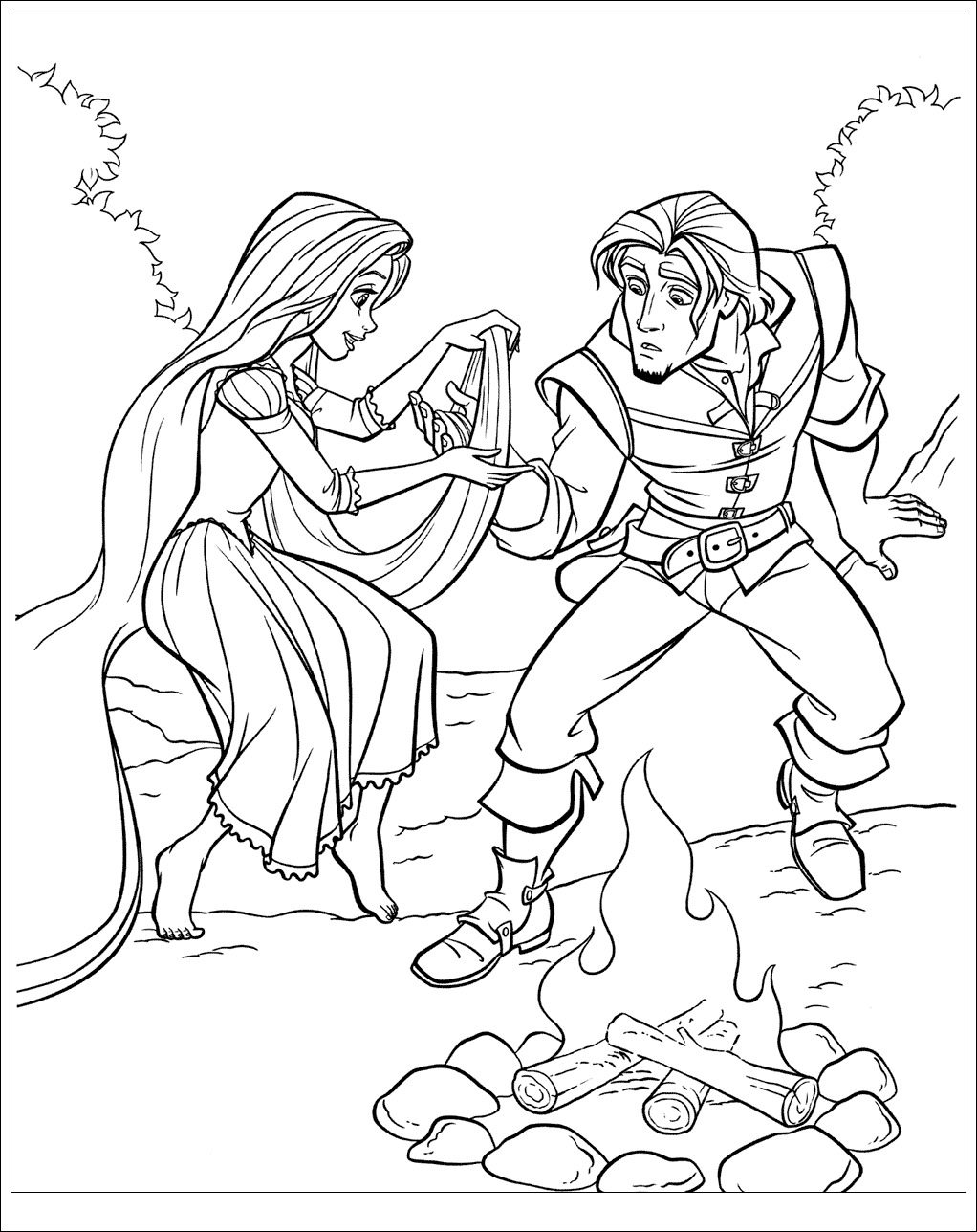 Raiponce disney 4 coloriage raiponce coloriages pour - Disney princesse coloriage ...