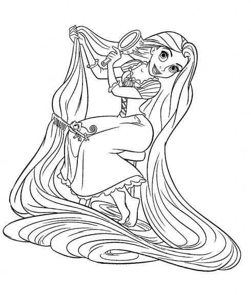 Raiponce disney 5 coloriage raiponce coloriages pour - Reponse dessin anime ...